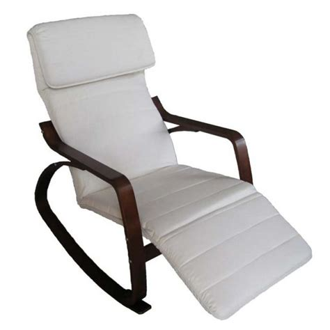sedia a dondolo con poggiapiedi regolabile