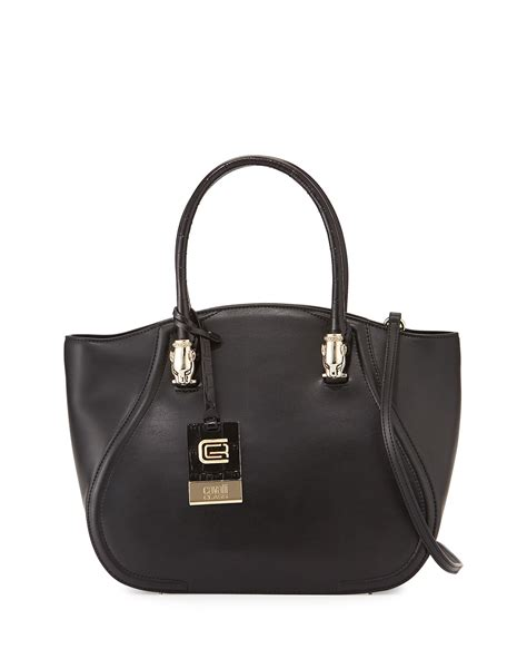 Roberto Cavallis Has Packed Bags by Class Roberto Cavalli Small Leather Tote Bag In