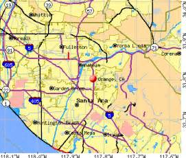 orange california map orange california ca profile population maps real