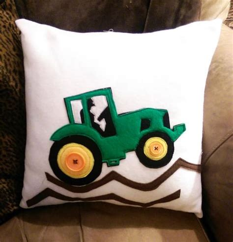 Deere Tractor Pillow by Trusty Tractor Appliqe Pillow Via Craftsy Quilts