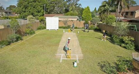 backyard cricket pitch commbank turns a garden into a cricket pitch in new ad