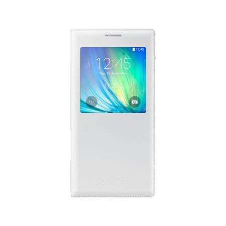 Samsung A7 2015 Flip official samsung galaxy a7 2015 s view flip cover white
