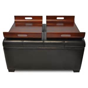 Storage Ottoman With Tray Convenience Concepts Designs4comfort Espresso Storage Ottoman With Trays By Oj Commerce R9 104