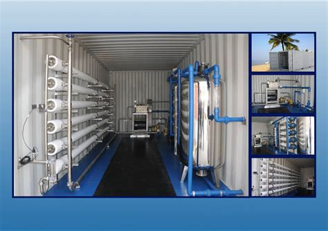 Service Sea Water Osmosis Swro 1 containerized mobile water treatment plant for sea water