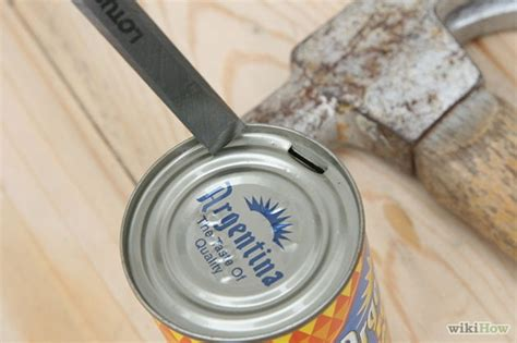 how to open a can with can opener how to open a can without a can opener