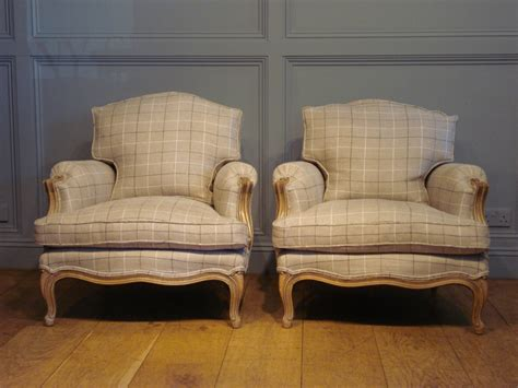 vintage armchairs uk sold pair of antique french reupholstered bergeres