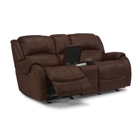 gliding recliner loveseat flexsteel 1549 604 comfort fabric gliding reclining