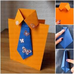 handmade cards for dads birthday diy tie and shirt greeting card
