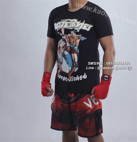 Kaos Mma Muay Thai Rt749 jual kaos muay thai hanzo elite fight gear sms wa