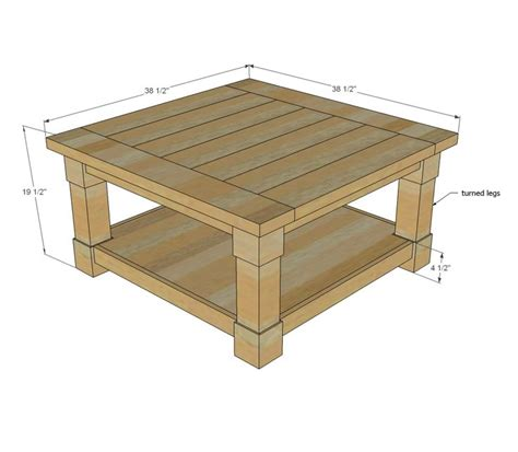 free outdoor coffee table plans woodworking projects plans