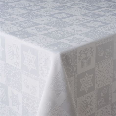 hanukkah tablecloth metallic 70 round hanukkah jacquard tablecloth ivory 70 inch jacquard table cloth tablecloth 35 new