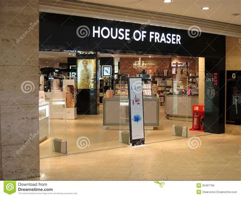house stores house of fraser store entrance editorial image image of