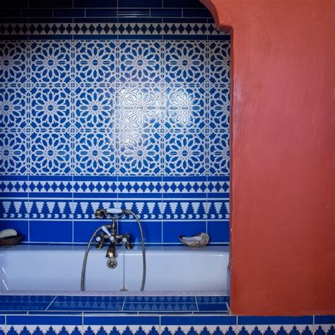 blue tile badezimmer blue inspired bathroom housetohome co uk