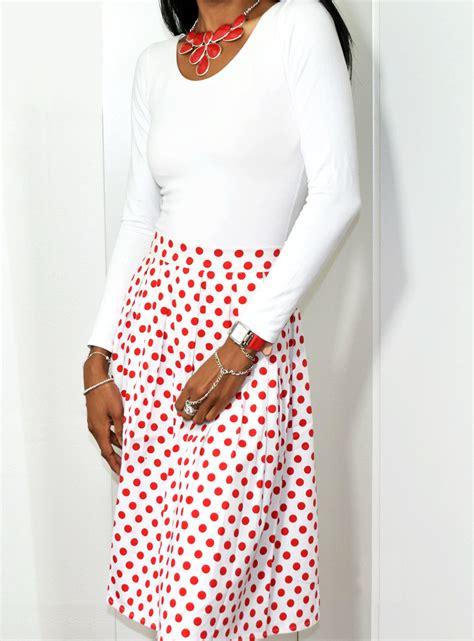 White Lace Sleeved Shirt And Polka Dot Skirt 30451we M white polka dot blouses lace henley blouse