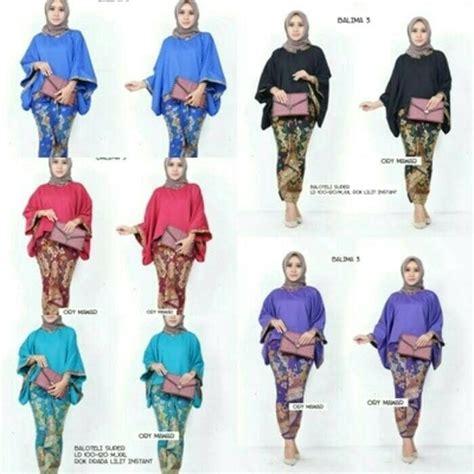 Blus Jumbo Pesta batik kebaya wanita seragam pesta baju muslim modern