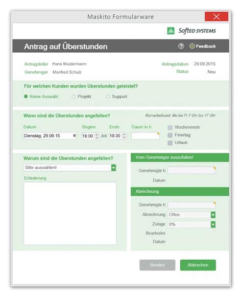Antrag Formular Vorlage Beispiele Und Anwendungen F 252 R Elektronische Formulare