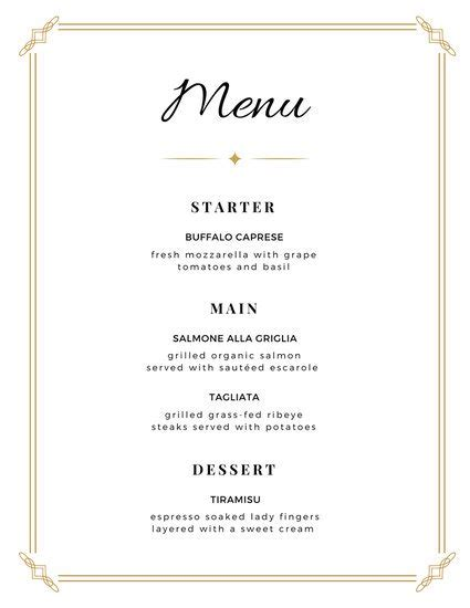 italian dinner menu card template customize 273 wedding menu templates canva