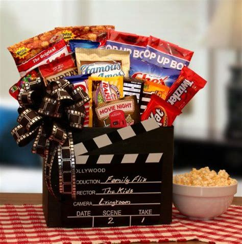 family movie time red box movie rental snack gift box