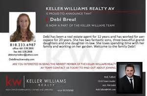 New Real Estate Announcement by Help Us Welcome Our New Real Estate Keller Williams Palmdale Real Estate 661 538 2800