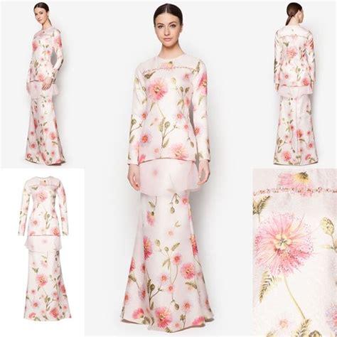 pattern kurung moden terkini fesyen trend terkini bianco mimosa sphera baju kurung