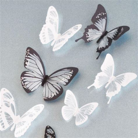 18pcs 3d butterflies diy home decor wall stickers