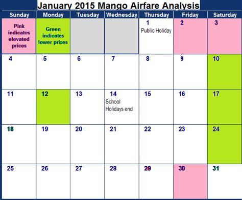 Calendar 2015 January And February Mango February 2017 Flight Deals