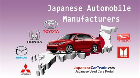 japanese automobile manufacturers japanesecartradecom