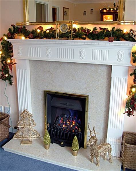 garland for fireplace ty973 fireplace with garland and decor asset