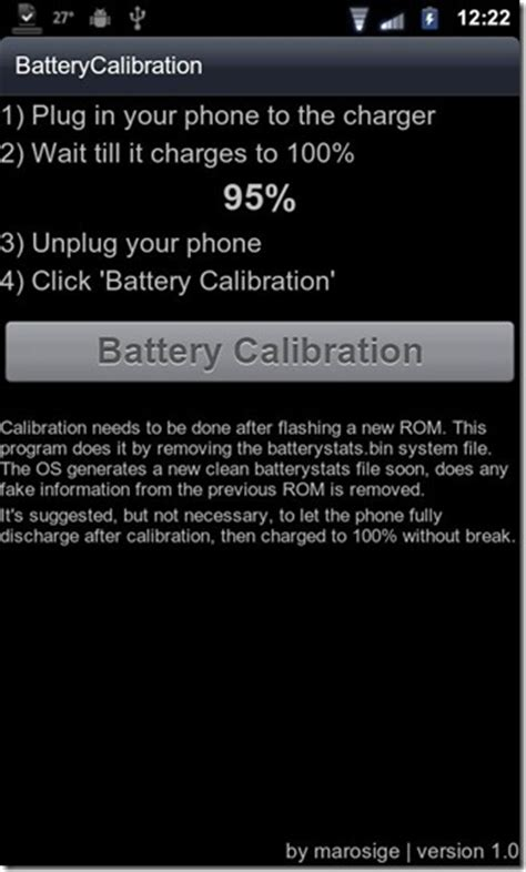 battery calibration android calibrate battery on android devices with battery calibration