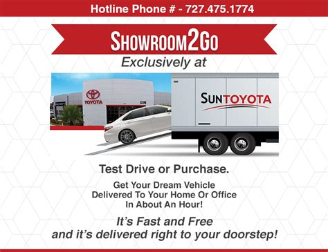 Sun Toyota Service Showroom To Go Free Delivery Sun Toyota Serving Ta