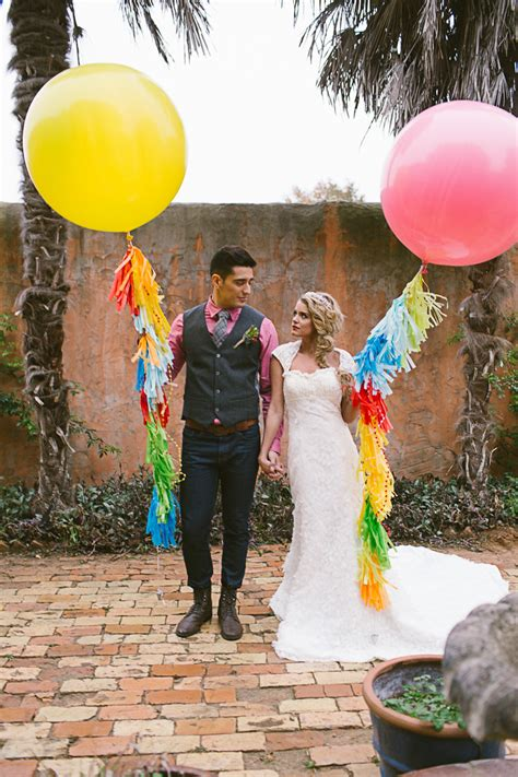 a mexican themed complete with balloons bespoke wedding