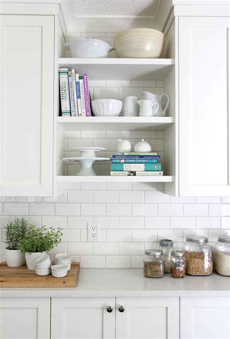 open shelving cabinets our house kitchen reveal