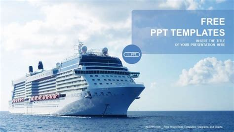powerpoint themes ships luxury cruise ship sailing powerpoint templates