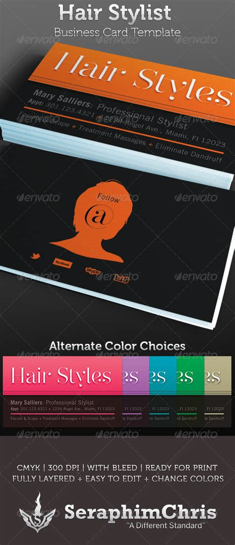 hair stylist business card template graphicriver