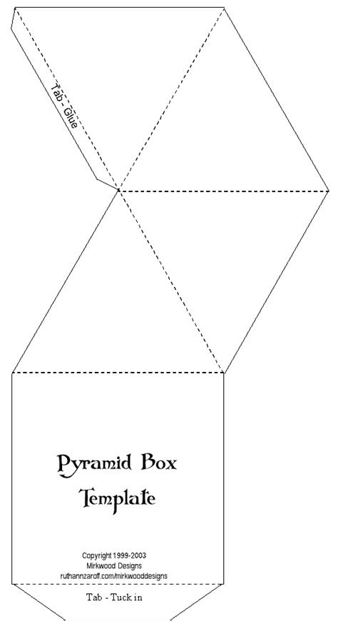 Mirkwood Designs Artistry In Rubber Pyramid Box Pyramid Template