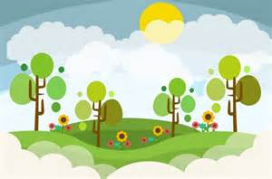 Landscape Design Vector Landscape Design Colored Style Free Vector In