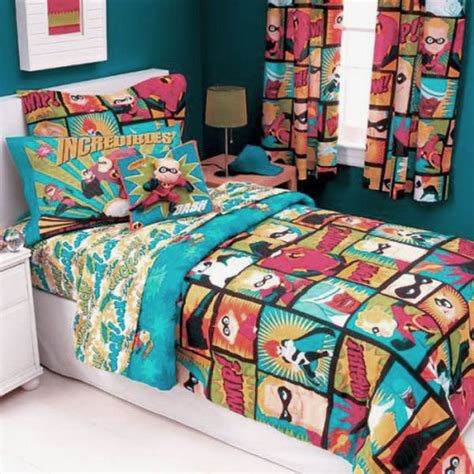 kids curtains and bedding superheroes bedding for kids room decor colorful the