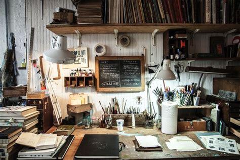 Illustrator Oliver Jeffers Desk Creative Spaces