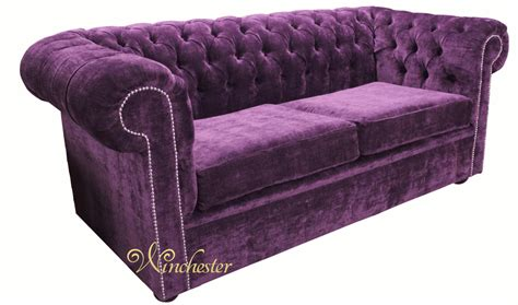 Fabric Chesterfield Sofa Uk Chesterfield 2 Seater Settee Velluto Amethyst Fabric Sofa Offer