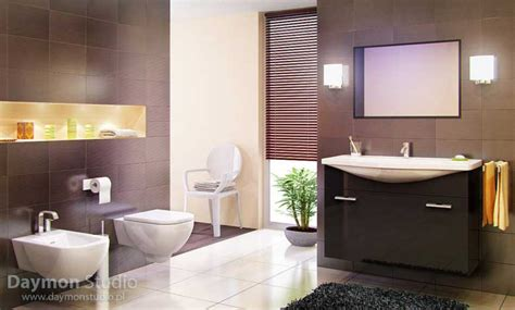 brown and black bathroom modern and awesome bathroom with brown tiles and black rug interior design ideas