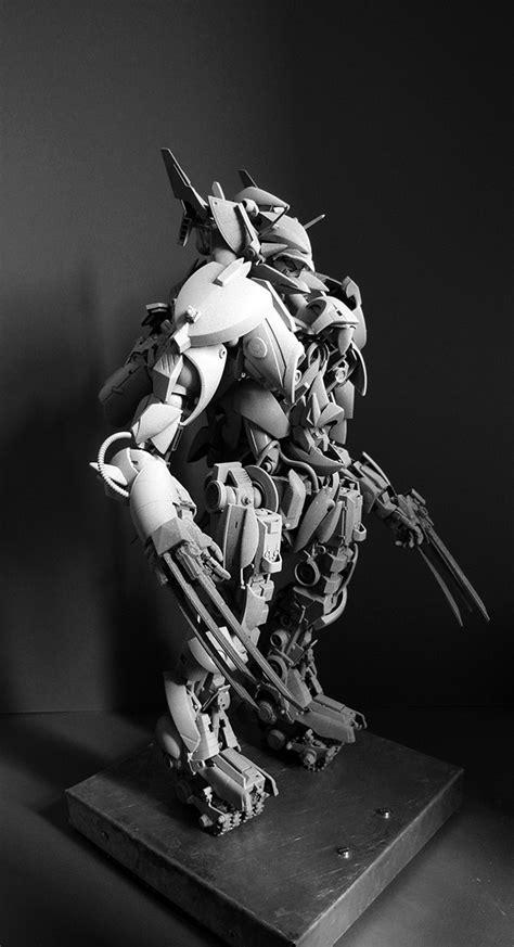 Kaos Custom Cb 125 robot 69 wolverine on behance