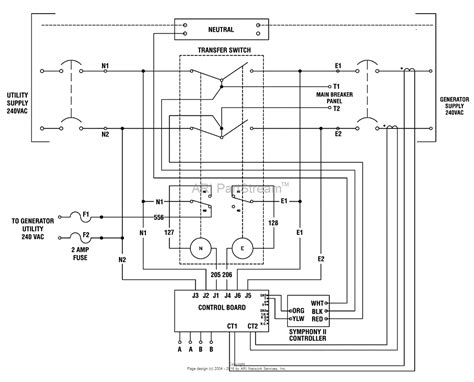 transfer switch wiring schematic generator automatic