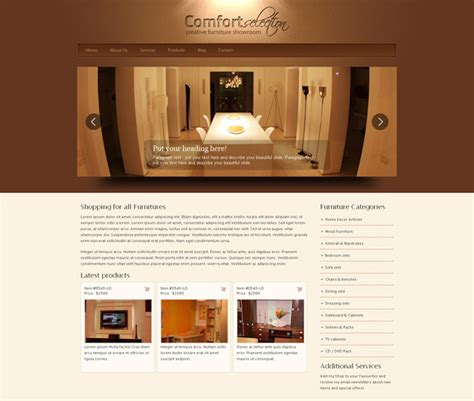 8 Best Furniture Website Templates Web Graphic Design Bashooka Furniture Website Templates Free