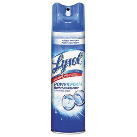 power bathroom cleaner lysol 174 power foam bathroom cleaner