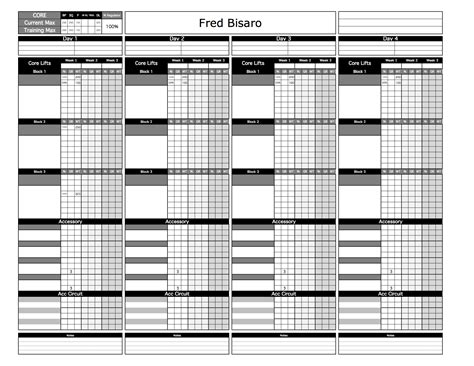 strength and conditioning templates image collections