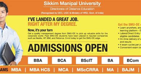 Smu Mba Program Guide by Oppurtunity Opens For Willingness And Ability Sikkim