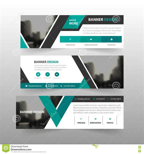 format email banner green black triangle corporate business banner template