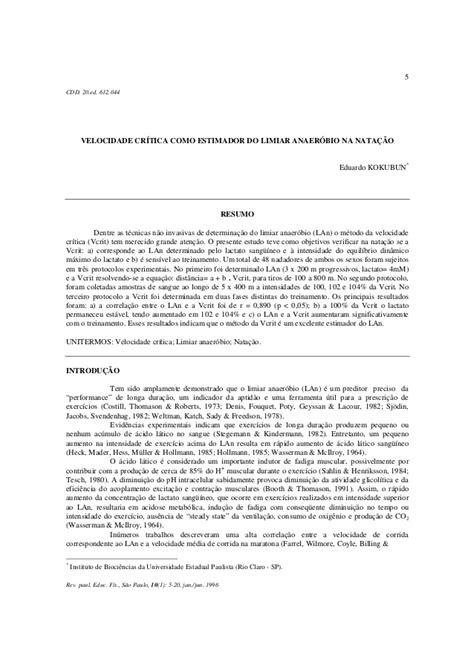 Revista Paulista de Educação Física, v. 10, n. 1, 1996