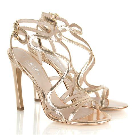 high heel sandals gold daniel gold cohen women s high heeled sandal