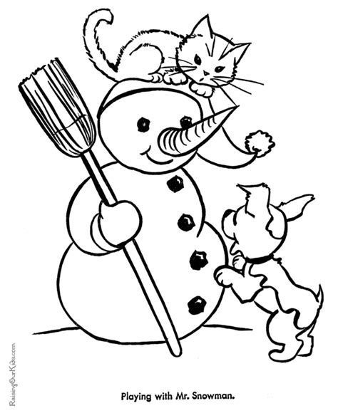 free coloring pages of cute cartoon kitten
